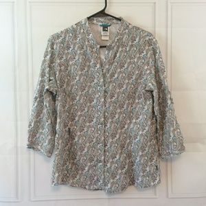 The North Face White Paisley Button Up Shirt